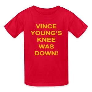 Vince Young's Knee Was Down - Kids' T-Shirt