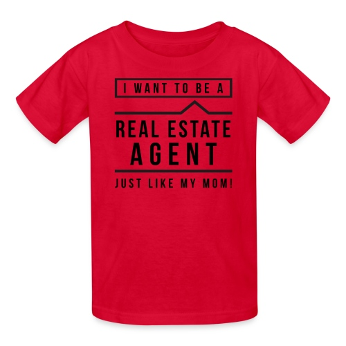 I want to be a real estate agent like Mom (black) - Kids' T-Shirt