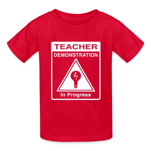 Teacher Demonstration in Progress - Kids' T-Shirt