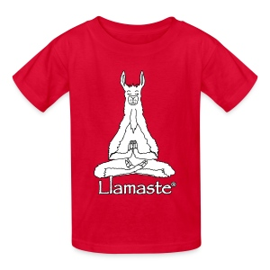 Llamaste White Logo - Kids' T-Shirt