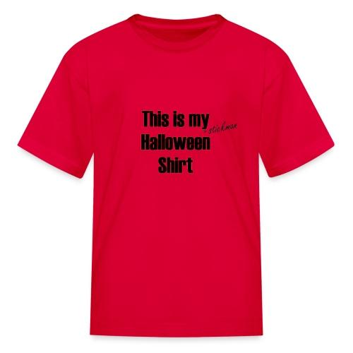 Stickman Halloween Shirt - Kids' T-Shirt