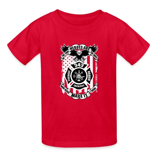 True Heroes are Fire Firefighters Honor T-Shirt - Kids' T-Shirt
