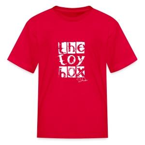 The Toy box Studio - White Logo - Kids' T-Shirt