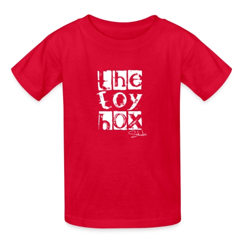 The Toy box Studio - White Logo - Kids' T-Shirt