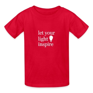 Let Your Light Inspire Tee (white font) - Kids' T-Shirt