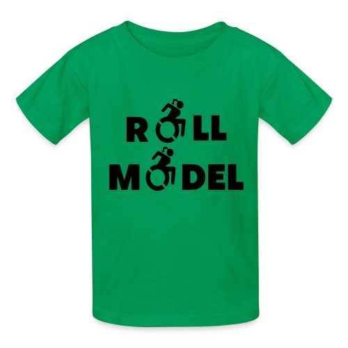As a lady in a wheelchair i am a roll model - Kids' T-Shirt