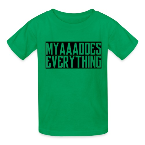 MyaaaDoesEverything (Black) - Kids' T-Shirt
