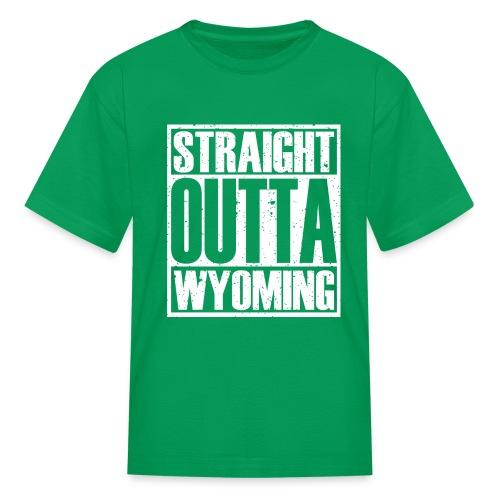 Straight Outta Wyoming - Kids' T-Shirt