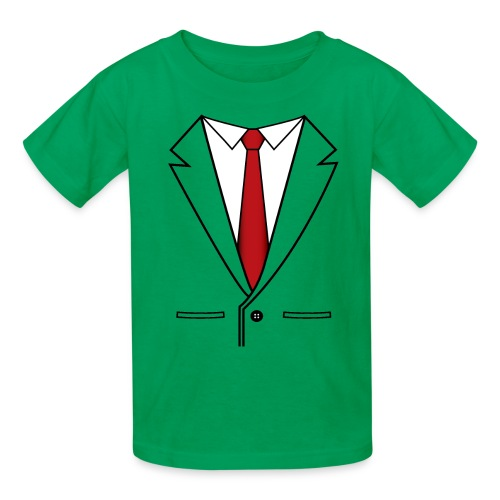 Suit and Red Tie - Kids' T-Shirt