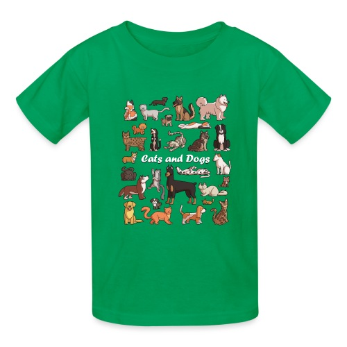 Cats and dogs - Kids' T-Shirt