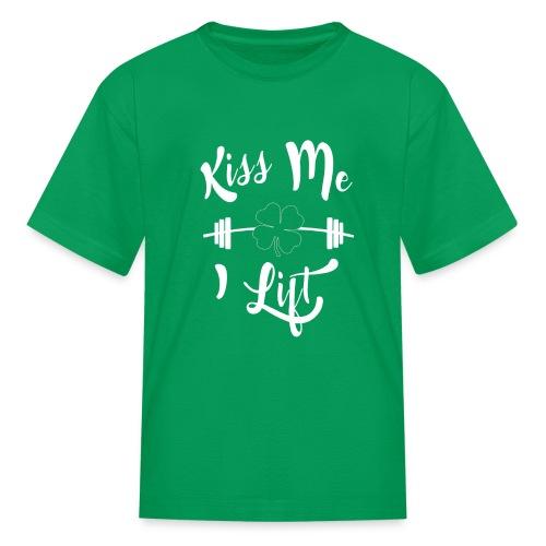 Kiss me, I lift! - Kids' T-Shirt