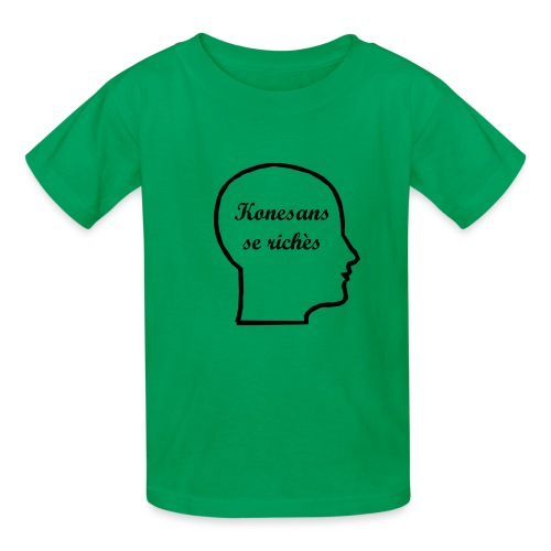Konesans se richès - Knowledge is power - Kids' T-Shirt