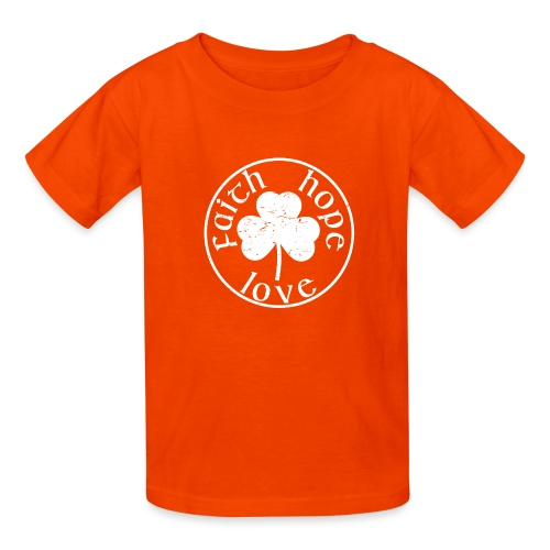 Irish Shamrock Faith Hope Love - Kids' T-Shirt