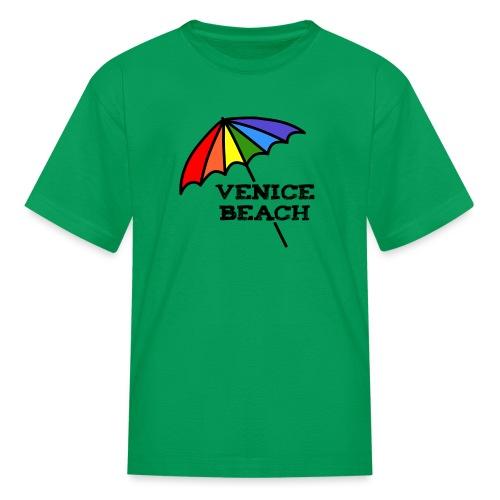 Venice Beach Rainbow Umbrella - Kids' T-Shirt