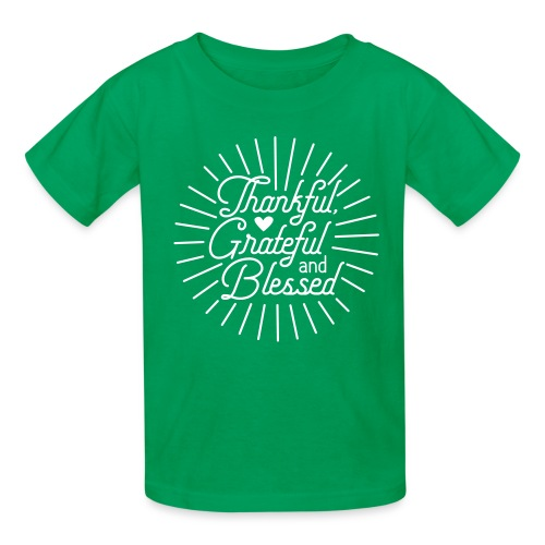 Thankful, Grateful and Blessed Design - Kids' T-Shirt