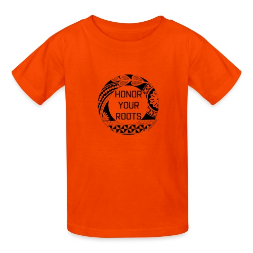 Honor Your Roots (Black) - Kids' T-Shirt