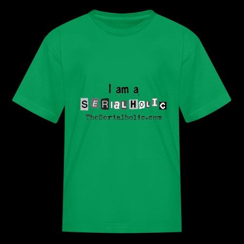 Black Serialholic Logo - Kids' T-Shirt