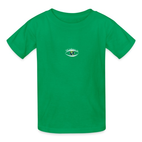 Self Sufficient Me Logo white small coy design - Kids' T-Shirt