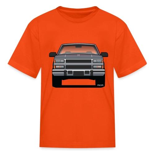 Design Icon: American Bowtie Silver Urban Truck - Kids' T-Shirt