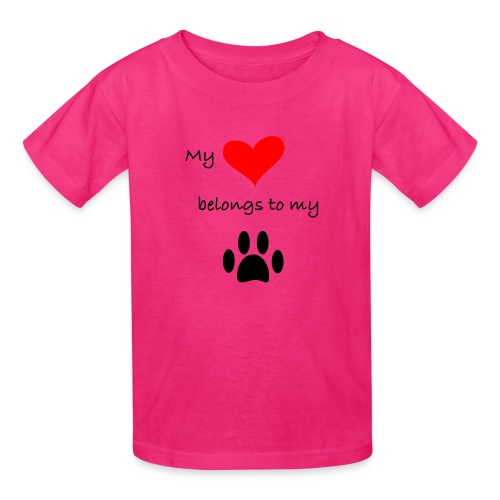 Dog Lovers shirt - My Heart Belongs to my Dog - Kids' T-Shirt
