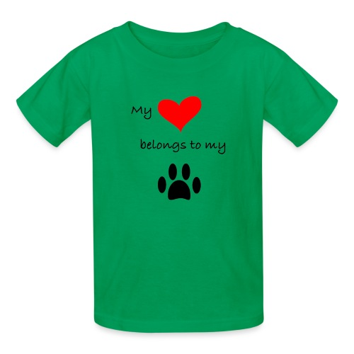 Dog Lovers shirt - My Heart Belongs to my Dog - Kids' T-Shirt