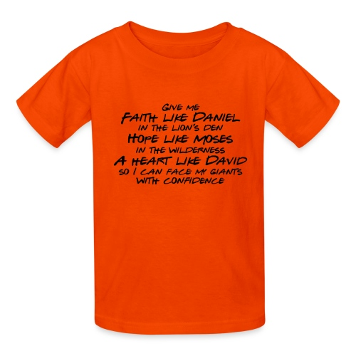 Face Your Giants with Confidence - Kids' T-Shirt