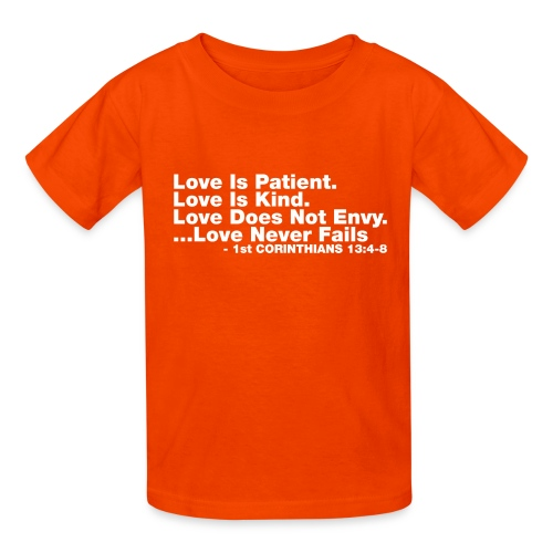Love Bible Verse - Kids' T-Shirt
