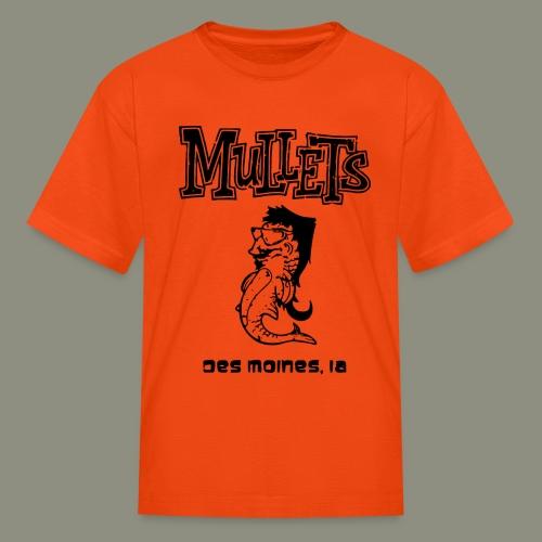 mulletmain black - Kids' T-Shirt