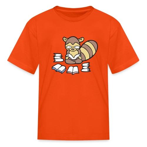 Reading Raccoon - Kids' T-Shirt