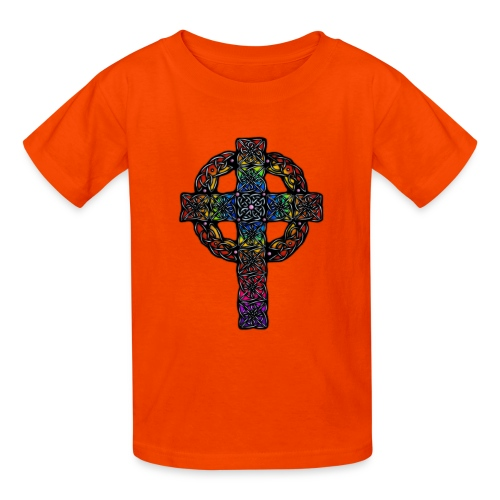 Celtic Cross rainbow - Kids' T-Shirt