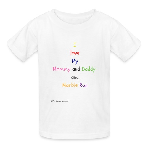 Hi I'm Ronald Seegers Collection-What I love - Kids' T-Shirt