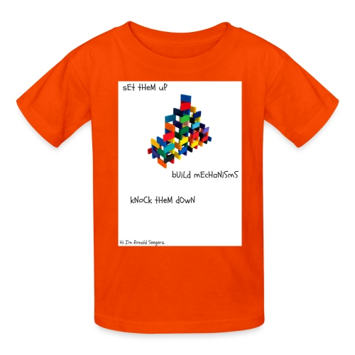 Hi I'm Ronald Seegers Collection-dominoes - Kids' T-Shirt