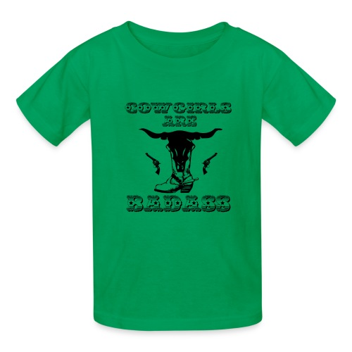 COWGIRLS ARE BADASS - Kids' T-Shirt
