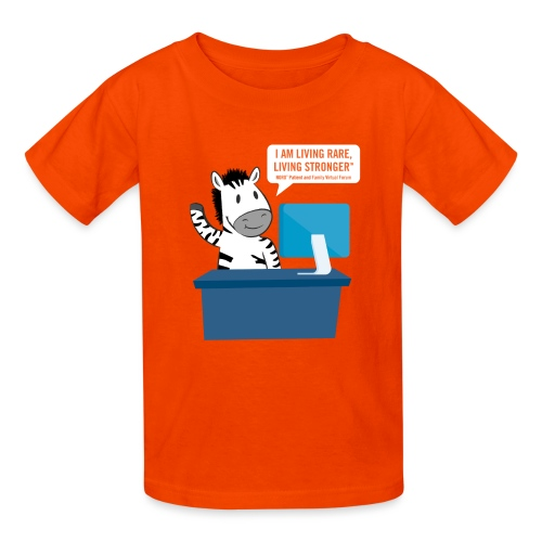 Living Rare, Living Stronger 2020 Virtual Zebra - Kids' T-Shirt