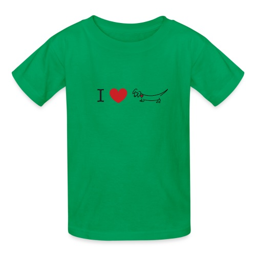 I love Dachshund - Kids' T-Shirt