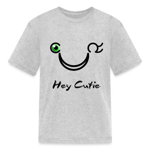 Hey Cutie Green Eye Wink - Kids' T-Shirt
