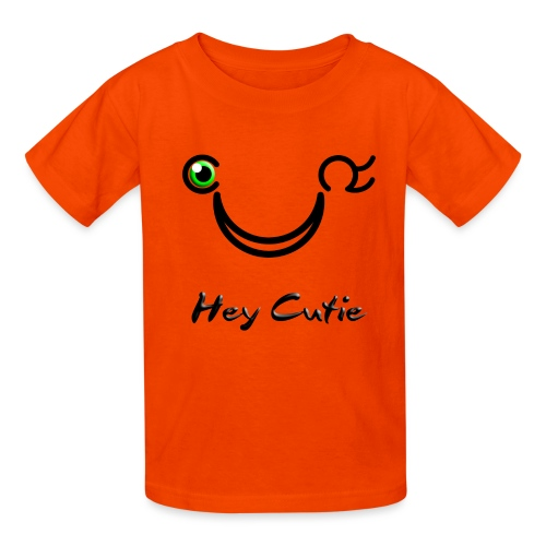 Hey Cutie Green Eye Wink - Kids' T-Shirt