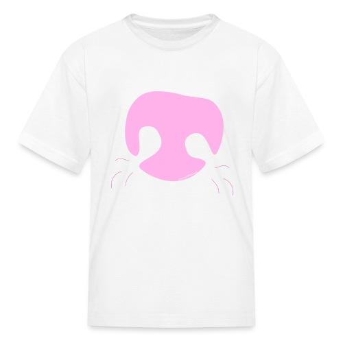Pink Whimsical Dog Nose - Kids' T-Shirt