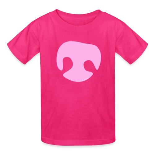 Pink Whimsical Dog Nose - Kids' T-Shirt
