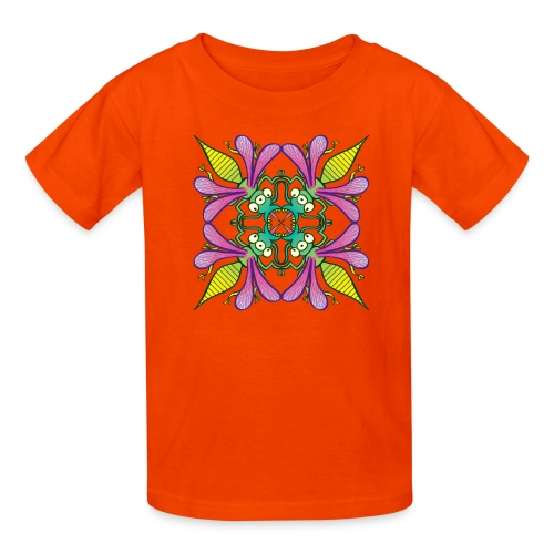 Glowing insects meeting in the middle of the night - Kids' T-Shirt