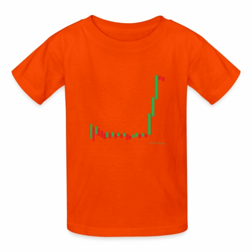Short Squeeze Bar Graph. - Kids' T-Shirt