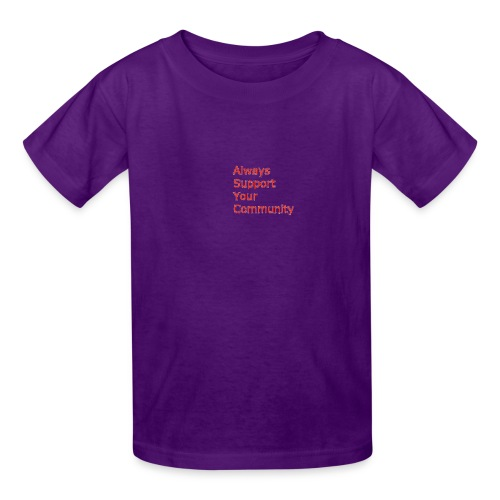Always Support Your Community - Kids' T-Shirt