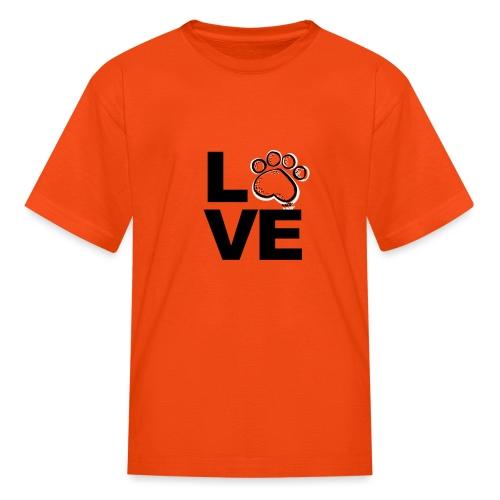 love paw png - Kids' T-Shirt