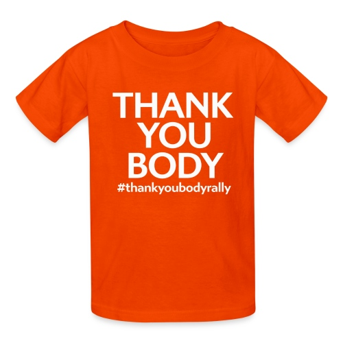 Thank You Body Rally FULL size - Kids' T-Shirt