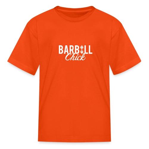 Barbell Fitness Chick - Kids' T-Shirt