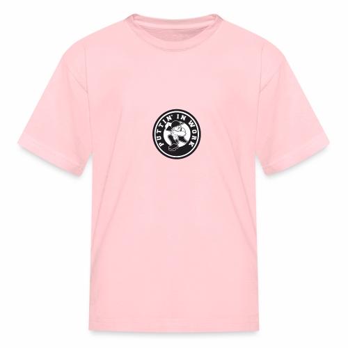 Solid Puttin' In Work Logo - Kids' T-Shirt