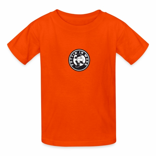 Solid Puttin' In Work Logo - Kids' T-Shirt