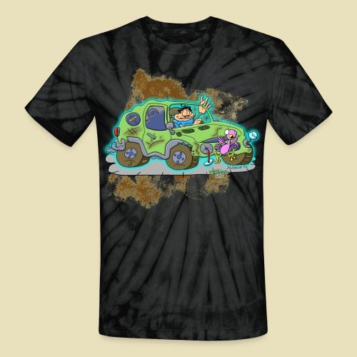 Ongher's UFO Crashed Car - Unisex Tie Dye T-Shirt