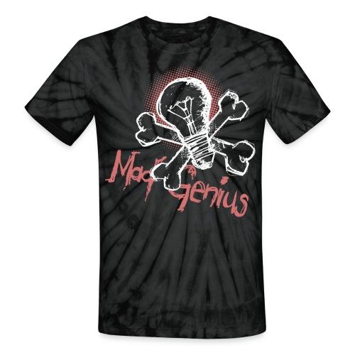 Mad Genius - On Dark - Unisex Tie Dye T-Shirt