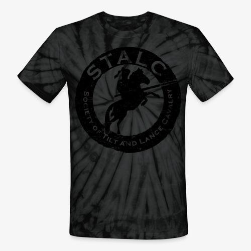 STALC Retro Logo BLACK - Unisex Tie Dye T-Shirt